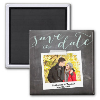 Save the Date Magnet | Tilted Snapshot Square