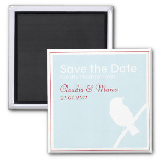 Save the DATE magnet to the wedding turquoise red