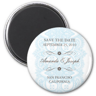 Save The Date Magnet-Vintage Blossom 2 Inch Round Magnet
