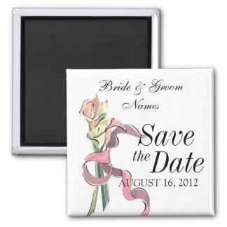 Save the Date Magnet Wedding Flower Ribbon Clipart Fridge Magnet