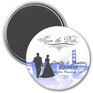 SAVE THE DATE MAGNET WITH VIEW OF SAN FRANCISCO