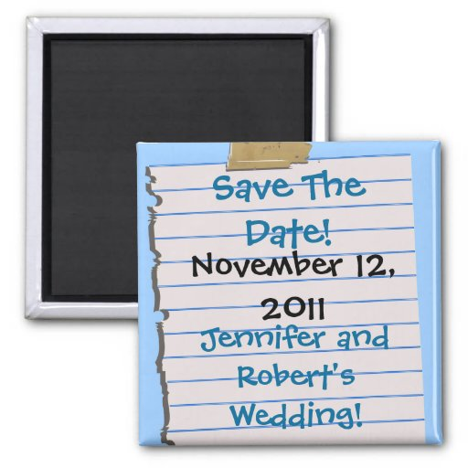 Save The Date! Magnets