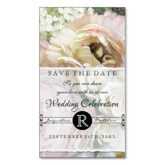 Save the Date Magnets French Flower Market Wedding