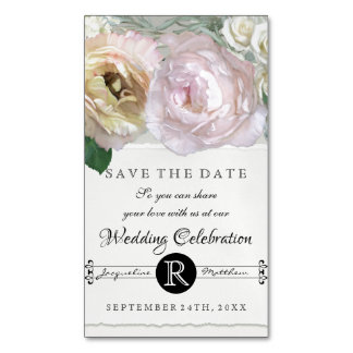 Save the Date Magnets Grey Ombre Flower Market