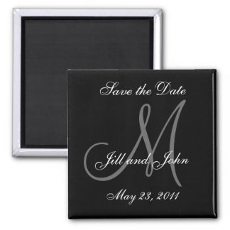 Save the Date Magnets Names and Monogram