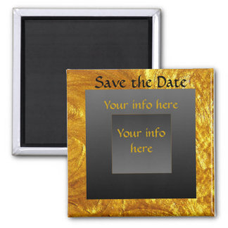 Save the Date Majestic 2 Inch Square Magnet