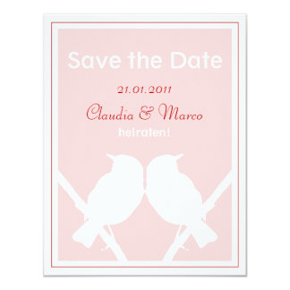 Save the DATE map pink and red to the wedding Card
