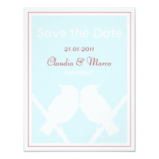 Save the DATE map turquoise and red to the wedding Card