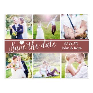 SAVE THE DATE MARSALA Wedding 6 PHOTO Postcard