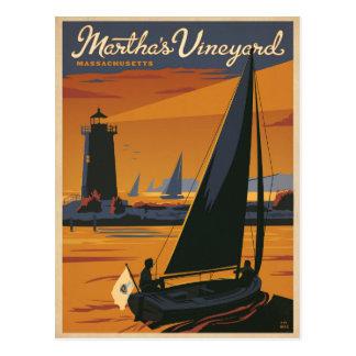 Save the Date   Martha's Vineyard, MA - Sailboat Postcard