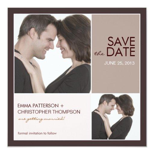 Save the Date Modern Blocks Photo Announcement