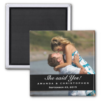 Save the Date Modern Brown & Pink Magnet