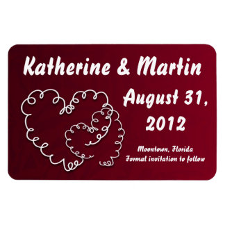 save the date modern creative love hearts magnet