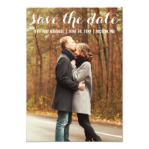 Save The Date Modern Engagement Card WBL