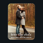 "Save The Date Modern Engagement Magnet LWB<br><div class=""desc"">Save The Date Modern Engagement and Wedding Photo Magnet Long</div>"
