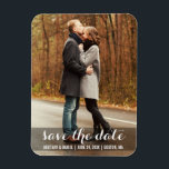 "Save The Date Modern Engagement Magnet LWB<br><div class=""desc"">Save The Date Modern Engagement and Wedding Photo Magnet Long</div>"