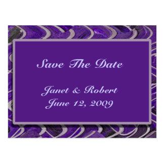 Save the Date Modern Purple Postcard