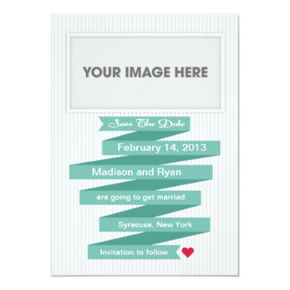 Save the Date Modern Ribbon Collection Card