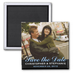 Save The Date Modern Style Photo Magnet at Zazzle
