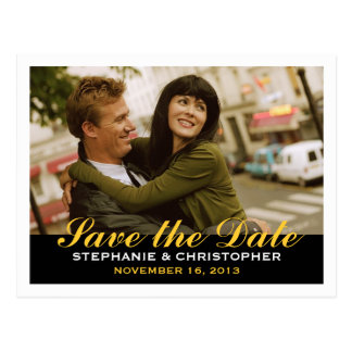 Save the Date Modern Style Photo Postcard
