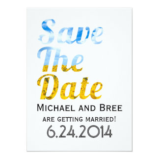 Save The Date Modern Typography With Photo Overlay Card