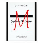 Save The Date Monogram Invite