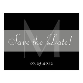 Save the Date Monogram Postcard