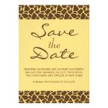 Save the Date Monogram Safari Wedding Invitation