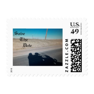 Save The Date motorcycle shadow ride Postage