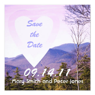 Save the Date Mountain View Card
