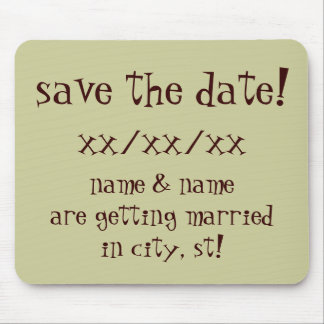 save the date mousepad