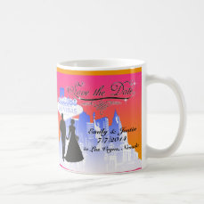 SAVE THE DATE MUG WITH VIEW OF LAS VEGAS