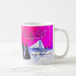 SAVE THE DATE MUG WITH VIEW OF SAN FRANCISCO