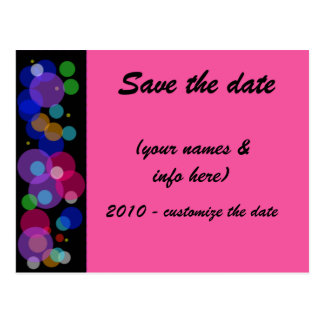 SAVE THE DATE (multi-colored) circles2 Postcard