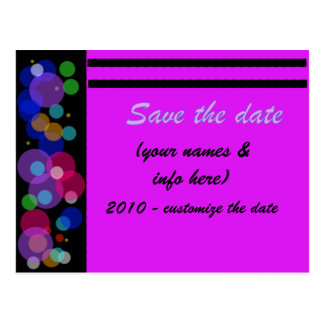 SAVE THE DATE (multi-colored) circles Postcard
