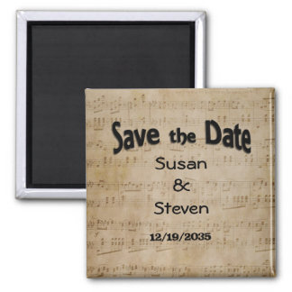 Save the Date Music Theme Magnet