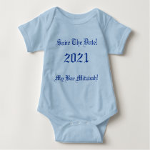 Save The Date!, My Bar Mitzvah!, 2021 Baby Bodysuit