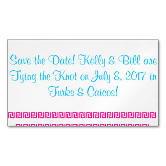 Save the Date Name Kelly&Bill Are Getting Hitched Magnetic Business Card