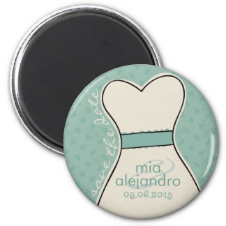 Save the date (names and date) Customizable Magnet