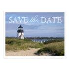 Save the Date Nantucket Wedding Brant Point Light Postcard