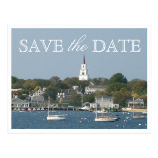 Save the Date Nantucket Wedding Tranquil Harbor Postcard