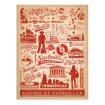 Save the Date | Nashville, TN - Pattern Print Postcard
