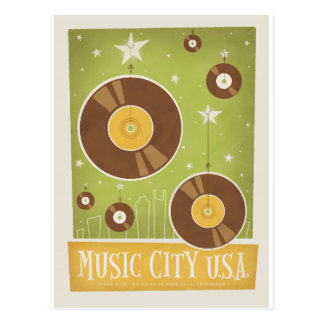 Save the Date | Nashville, TN - Records Postcard