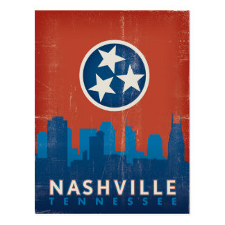 Save the Date | Nashville, TN - State Flag Postcard