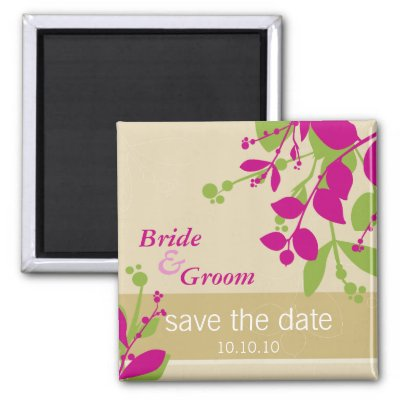 COLOURS gold lime fuschia Announce your Wedding date with these trendy