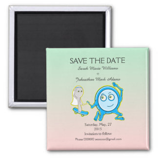 Save The Date Nursery Rhyme Wedding Magnet