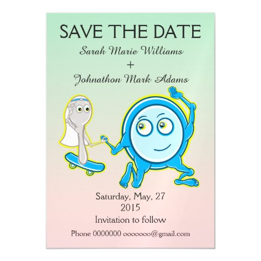 Save The Date Nursery Rhyme Wedding Magnetic Card | Zazzle