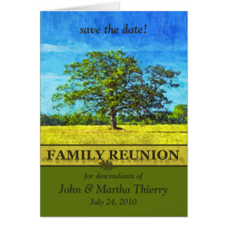 Save the Date - Oak Tree Design for Family Reunion Cards