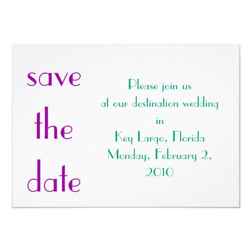 save the date one card