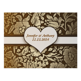 save the date or engagement vintage postcards